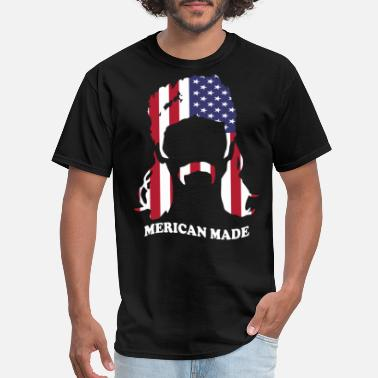 Mens Jeep Mens Tank Navy Patriotic Merican Made Print Gildan - Men's T-Shirt