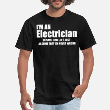 Professional-electrician Electrician Gift for Electrician Professional Line - Men's T-Shirt