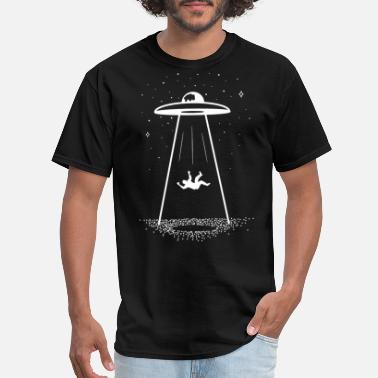 Dope Hands Galaxy Gothic Alien UFO Black Galaxy Print Star Wars Hips - Men's T-Shirt