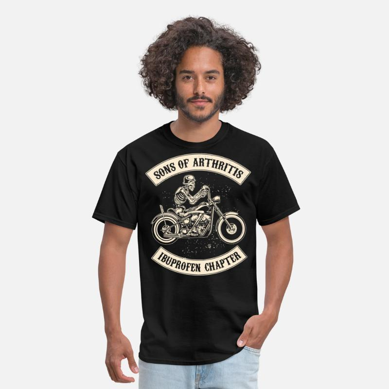 Motorcycle T-Shirts - sons of arthritis cycling t shirts - Men's T-Shirt black