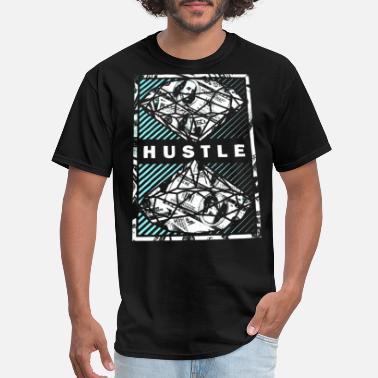 67b035ee574ee9 Hustle DIAMOND Hustle Money Cash Dollars Bills Tee Adult - Men  39 s T