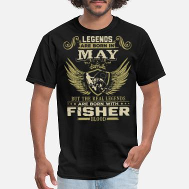 Born Legends legends are born may but the real legends are born - Men's T-Shirt