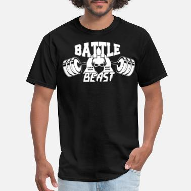 Battle Beasts BATTLE BEAST - Train hard fight hard - Men's T-Shirt