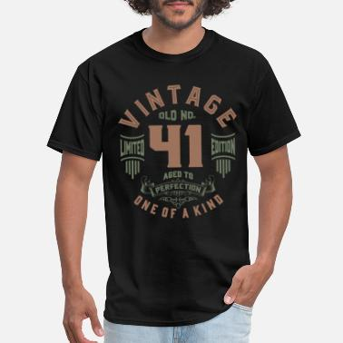 Age 41 Old No. 41 Aged To Perfection - Men's T-Shirt