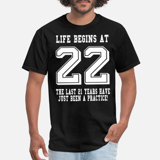 22nd 22 Years Old Twenty Second Birthday Presents Mens Heather Awesome T-Shirt