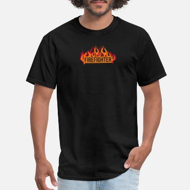 Best Funny Firefighter Firefighter Flames funny tshirt - Men's T-Shirt