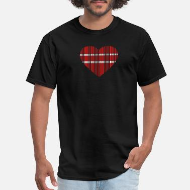 Romantic barcode love 2c - Men's T-Shirt