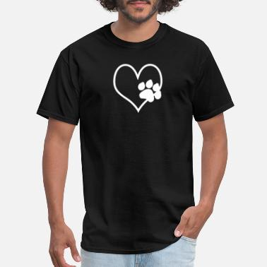 d2cb870ad506 Dog Animal Pet Rescue Heart Beat Paw - Men's T-Shirt