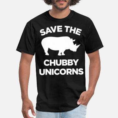 Fuck Silhouette save the chubby unicorns unicorn pig - Men's T-Shirt
