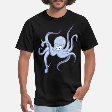 Octopus Cartoon Kraken Pirate Sealife Oceanic Gift - Men's T-Shirt