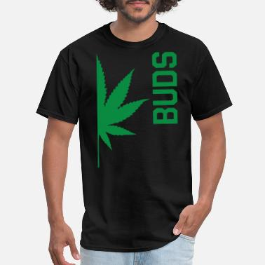 Too Big For Sleeves Best Buds Couples BUDS Matching Canabis Dope Weed - Men's T-Shirt
