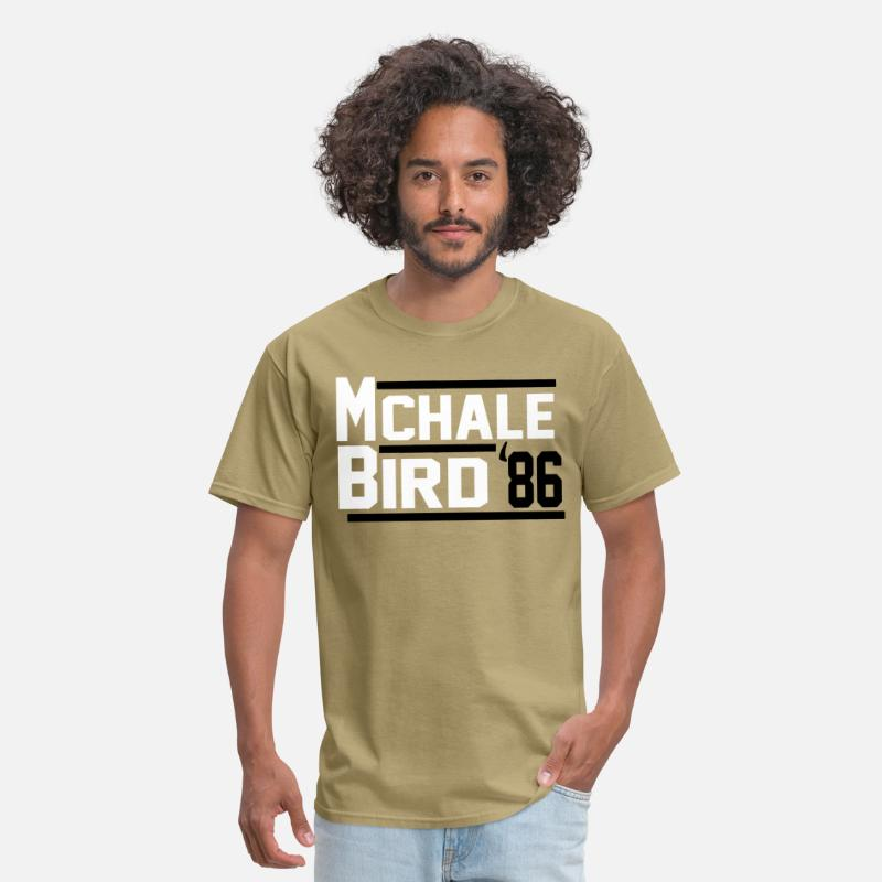 more photos 2707b 62cf9 Kevin McHale Larry Bird Boston Celtics Jersey or L Men's T-Shirt - khaki