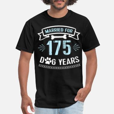 Wedding married for 175 dog years 25th wedding anniversary - Men's T-Shirt