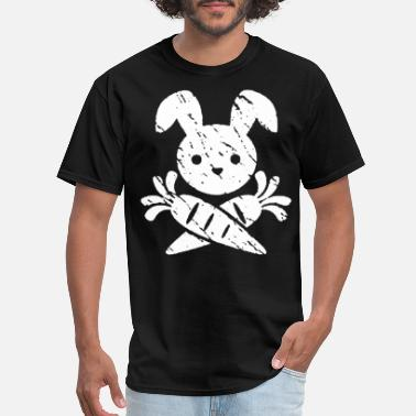 Taylor Gang Pirate Bunny Rabbit Funny Vegan Vegetarian Crazy B - Men's T-Shirt