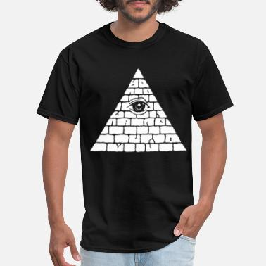 Nwo Illuminati Pyramid Sweatshirt All Seeing Eye Pullo - Men's T-Shirt