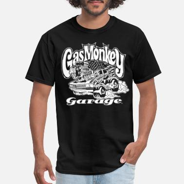 Gas Official Gmg Gas Monkey Garage Black Hot Rod T Shi - Men's T-Shirt