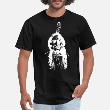 Fuck Indian Sitting Bull Vintage Indian Native American TEE Ch - Men's T-Shirt