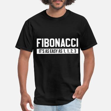 Math Fibonacci it is as easy as one two three math - Men's T-Shirt