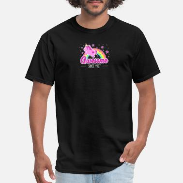 Fabulous Since 1967 Awesome Since 1967 Birthday Year Of Birth Unicorn - Men's T-Shirt