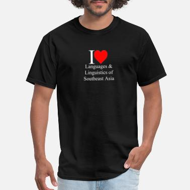I Love Linguistics ILLLSEA white lettering - Men's T-Shirt