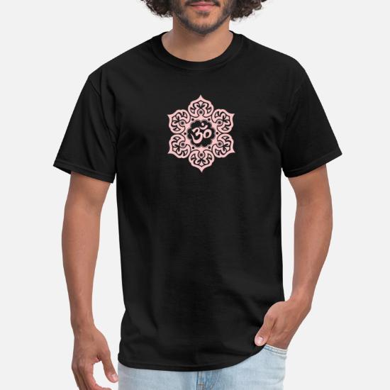 Pink Lotus Flower Yoga Om Men S T Shirt Spreadshirt