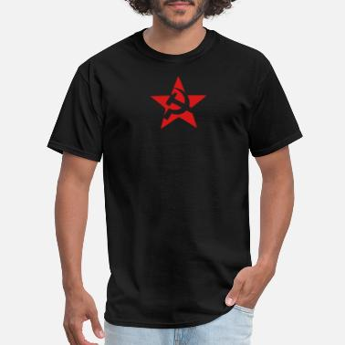 Hammer and sickle in star - Men's T-Shirt