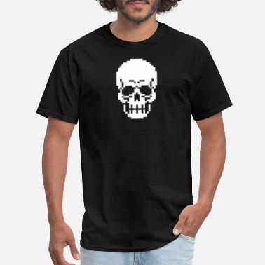 8bit Jokes 8Bit Skull Pixel - Men's T-Shirt