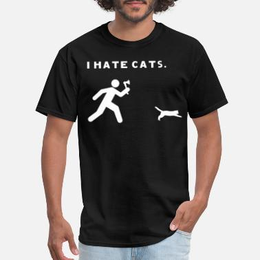 Tuxedo Cats I Hate Cats Funny Short Sleeve Gildan Tee Cat - Men's T-Shirt