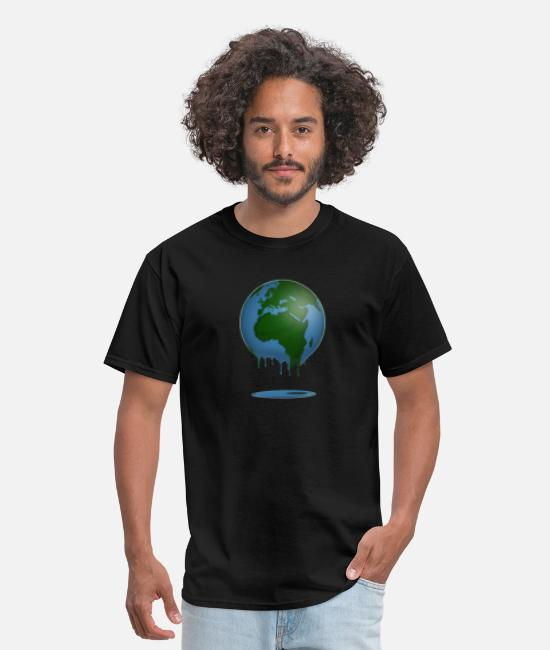 Eco T-Shirts - Melting Earth Nature Reserve environmental - Men's T-Shirt black
