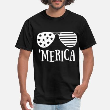Gun Sportswear Women s of July Merica Star Spangled Hammered Four - Men's T-Shirt