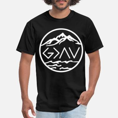 Greater god is greater than highs and lows viking - Men's T-Shirt