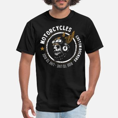 Custom Car Star MOTORCYCLES CUSTOM ROCKERS - Men's T-Shirt