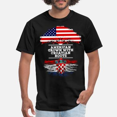Croatian American American Grown With Croatian Roots - Men's T-Shirt