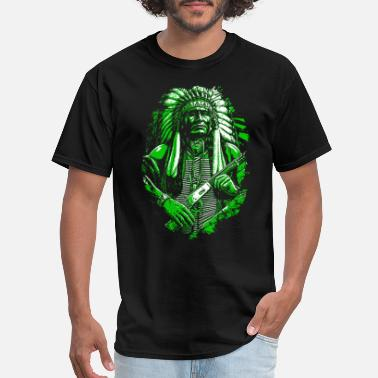Apache Indian American Native American Skull Gift - Men's T-Shirt