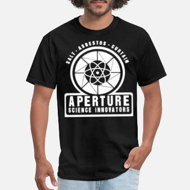 Aperture Science Geek PORTAL APERTURE SCIENCE INNOVATORS SCIENCE - Men's T-Shirt