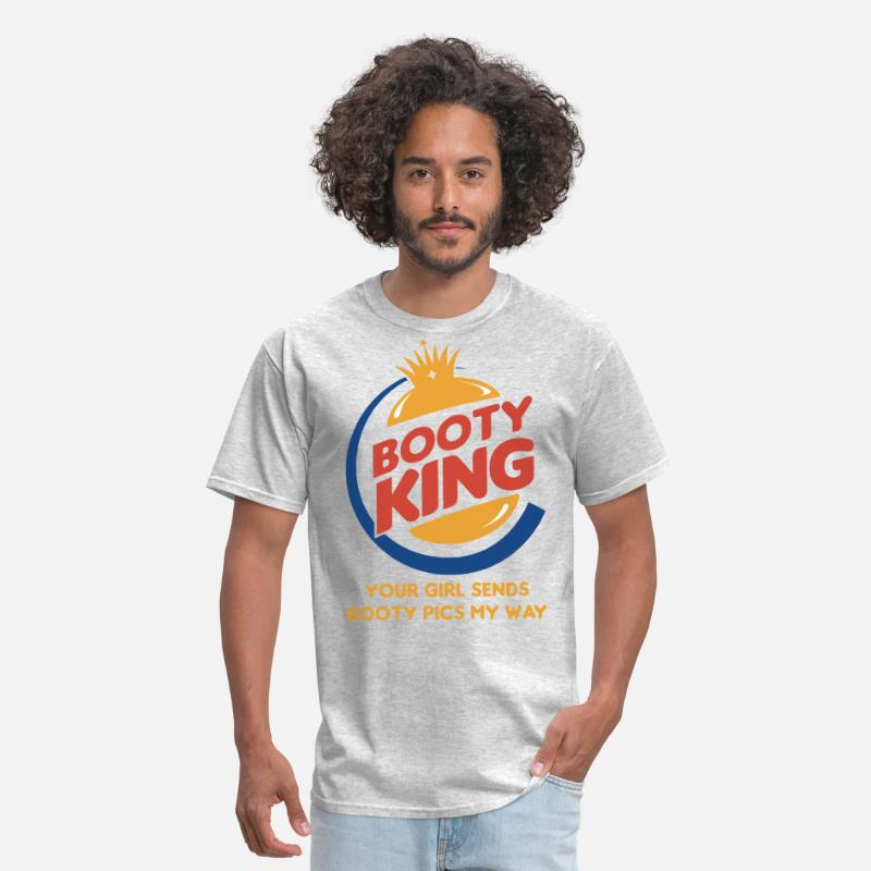 booty king your girls sends booty pics my way star Men's T-Shirt - heather  gray