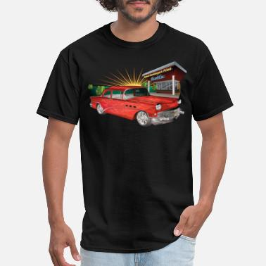Car Red 57 Chevy Hot Rod - Men's T-Shirt
