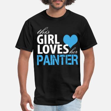 This Girl Loves Her Girlfriend this girl loves her painter girlfriend t shirts - Men's T-Shirt