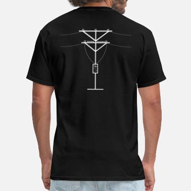 Optical buiding connections white V - Men's T-Shirt