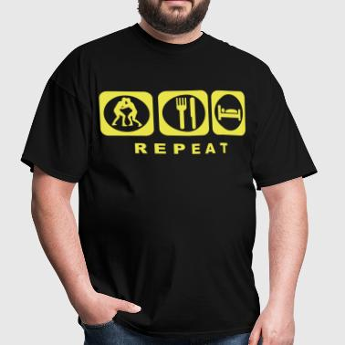 Wrestle Eat Sleep Repeat - Men's T-Shirt