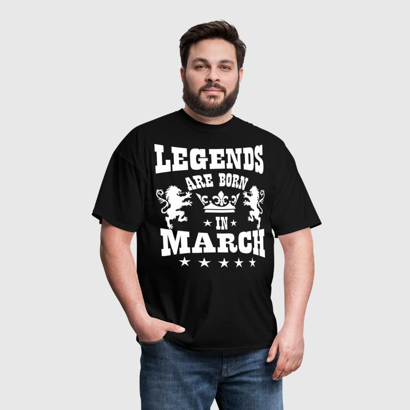 Legends are born in March Lions Crown Birthday - Men's T-Shirt