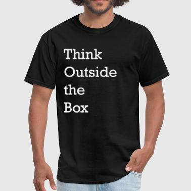 Think Outside the Box - Business Buzzwords - Men's T-Shirt