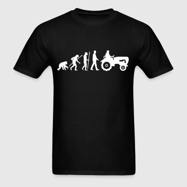 evolution_bauer_mit_treaktor_032013_a_1c - Men's T-Shirt