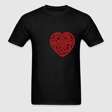 celtic knot heart - Men's T-Shirt