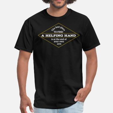 Best Place The Best place to find a helping hand - Men's T-Shirt