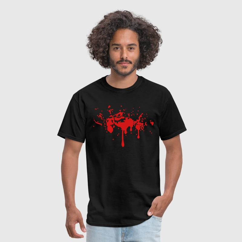 BLOODY TWILIGHT SPLATTER BLOOD STAIN Vector - Men's T-Shirt