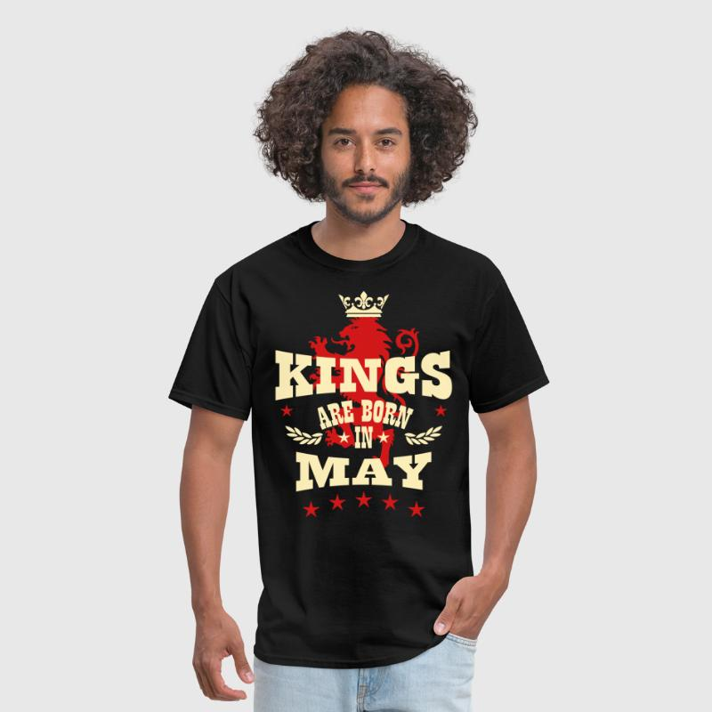 Kings are born in May King Crown Lion Hero - Men's T-Shirt