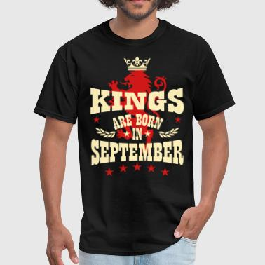 Kings are born in September King Crown Lion Hero - Men's T-Shirt