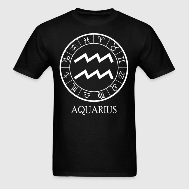 Aquarius astrological zodiac sign - Men's T-Shirt