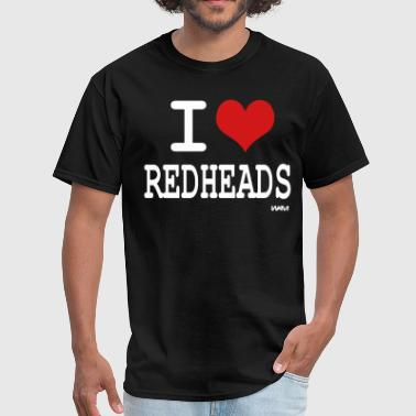 i love redheads by wam - Men's T-Shirt